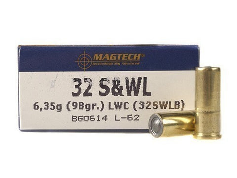 Magtech 32 S&W Long 98 Grain Lead Wadcuttter (50pk)