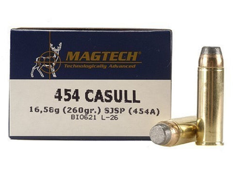 Magtech 454 Casull 260 Grain Jacketed Soft Point (20pk)