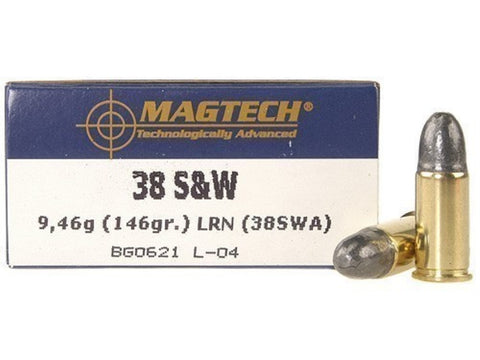 Magtech 38 S&W 146 Grain Lead Round Nose (50pk)