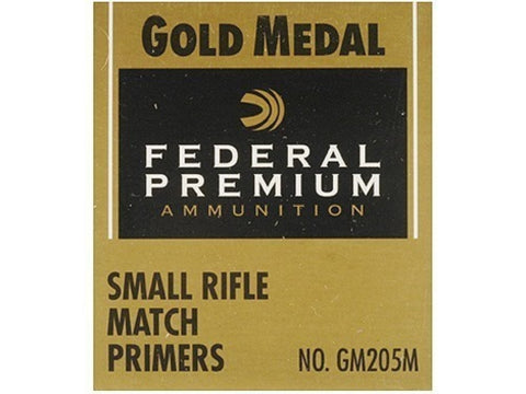 Federal Premium Gold Medal Small Rifle Match Primers #205M (100pk)