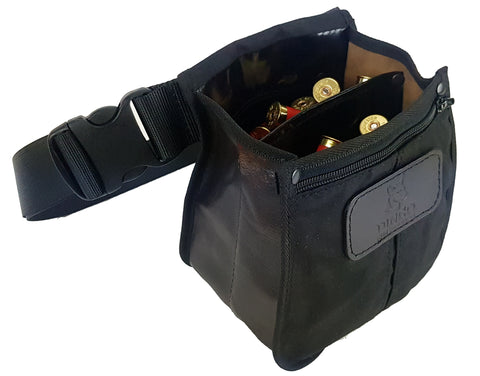 Dingo Canvas & Leather Shotshell Pouch with Adjustable Belt (340SSP)