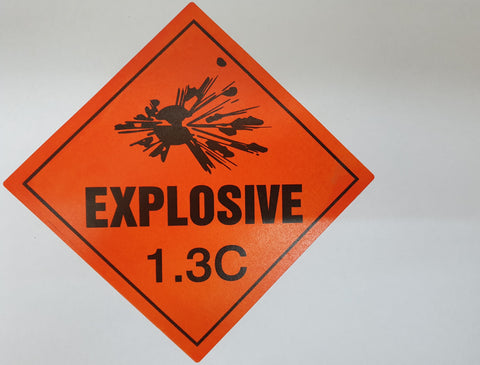 Explosive 1.3C Label / Sticker for <b>Smokeless Powder</b> Magazine (<b>NOT</b> Black Powder) (E1.3C)