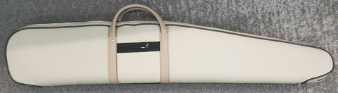 Aussie Sports Cream Leather Gun Bag with Eggshell Foam 48""