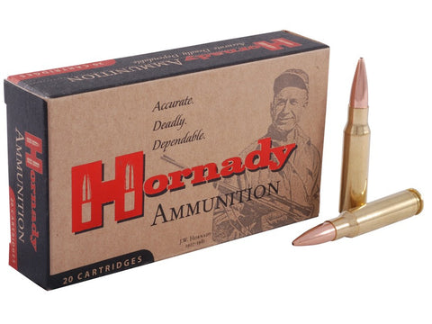 Hornady Match Ammunition 308 Winchester 168 Grain Hollow Point Boat Tail (20pk)