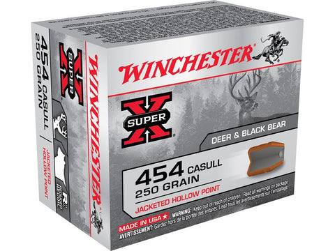 Winchester Super-X Ammunition 454 Casull 250 Grain Jacketed Hollow Point (20pk)