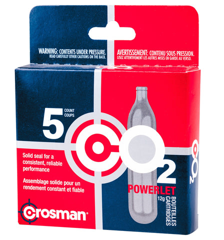 Crosman CO2 12g Powerlet Cartridges (5pk)