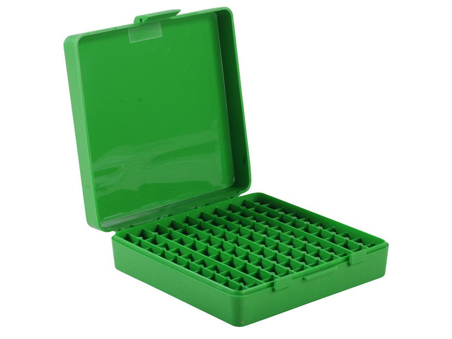 MTM Flip-Top Ammo Box 380 ACP, 9mm Luger 100-Round