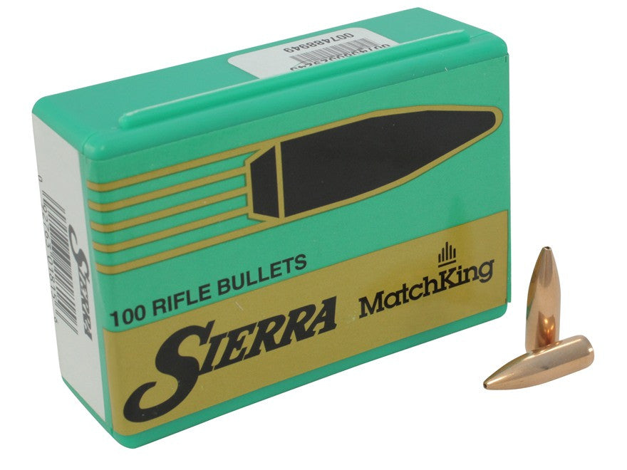 Sierra MatchKing Bullets 6.8mm Remington SPC (277 Diameter) 115 Grain Hollow Point Boat Tail (100pk)