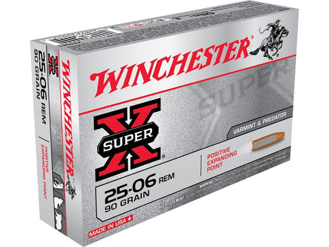 Winchester Super-X Ammunition 25-06 Remington 90 Grain Positive Expanding Point (20pk)