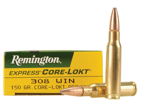 Remington Express Ammunition 308 Winchester 150 Grain Core-Lokt Pointed Soft Point (20pk)