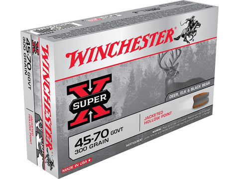 Winchester Super-X Ammunition 45-70 Government 300 Grain Jacketed Hollow Point (20pk)