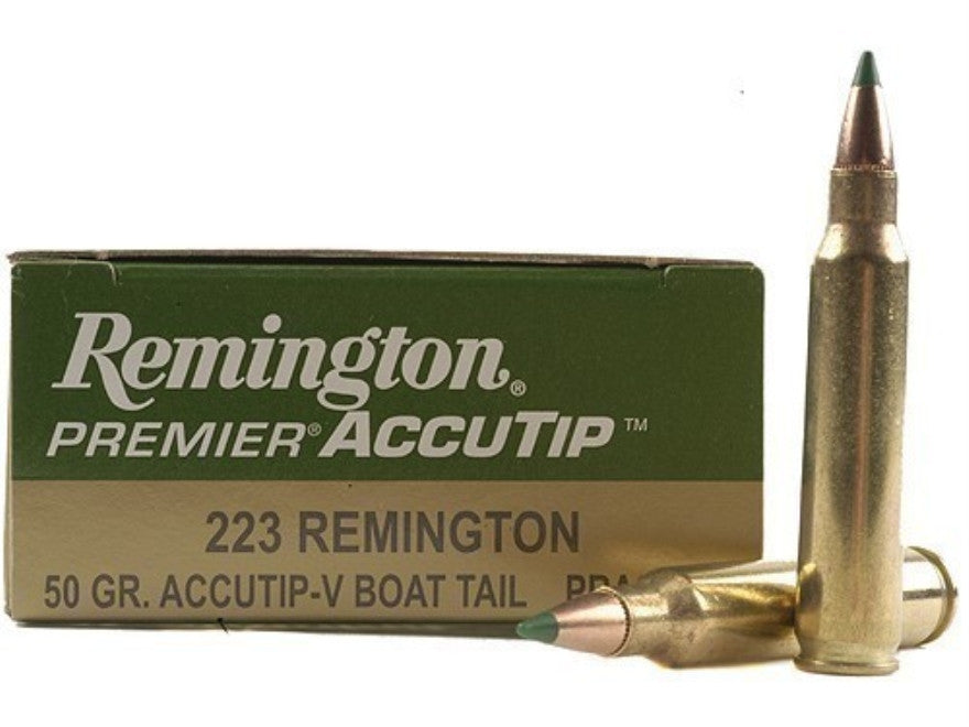 Remington Premier Varmint Ammunition 223 Remington 50 Grain AccuTip Boat Tail (20pk)