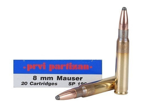 Prvi Partizan PPU Ammunition 8x57 Mauser 175gr Soft Point (20pk)