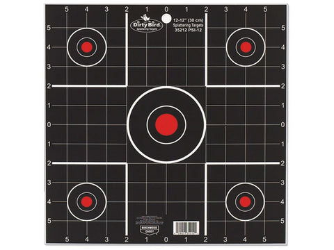 "Birchwood Casey Dirty Bird 12"" Sight-In Targets (12Pk)"