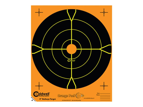 "Caldwell Orange Peel Targets 8"" Self-Adhesive Bullseye (10Pk)"