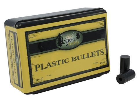 Speer Plastic Bullets 38 Caliber (357 to 358 Diameter) (50Pk)