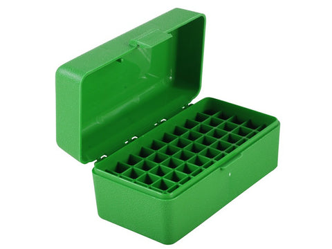 MTM Flip-Top Ammo Box 22-250 Remington, 250 Savage, 35 Remington 50-Round Green