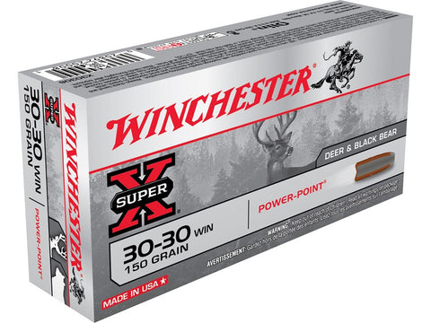 Winchester Super-X Ammunition 30-30 Winchester 150 Grain Power-Point (20pk)