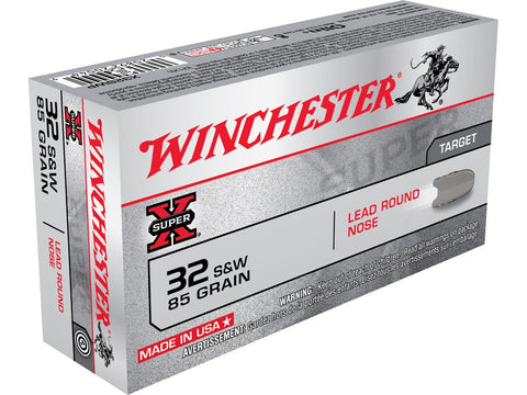 Winchester Super-X Ammunition 32 S&W 85 Grain Lead Round Nose (50pk)