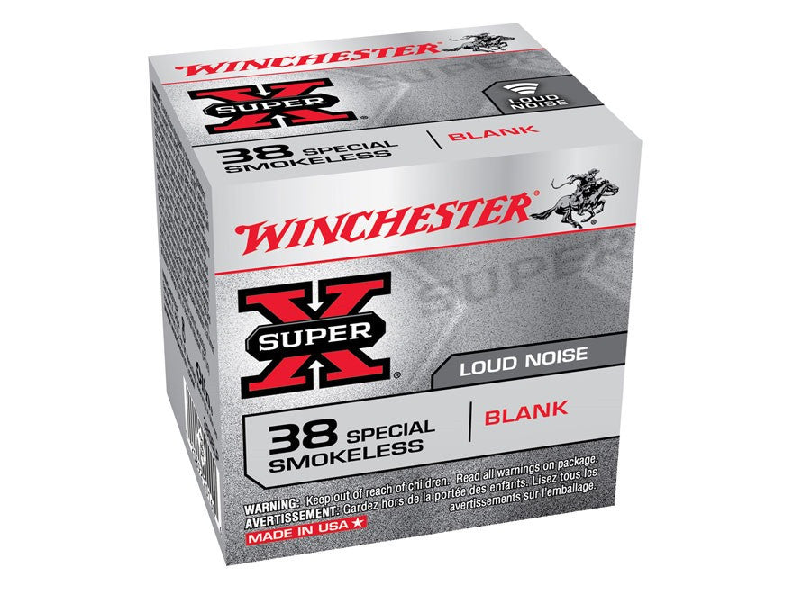 Winchester Super-X Ammunition 38 Special Blank Smokeless Gun Powder (50pk) - REDUCED TO CLEAR