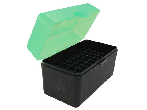 MTM Flip-Top Ammo Box 25-06 Remington, 270 Winchester, 30-06 Springfield 50-Round Black/Green