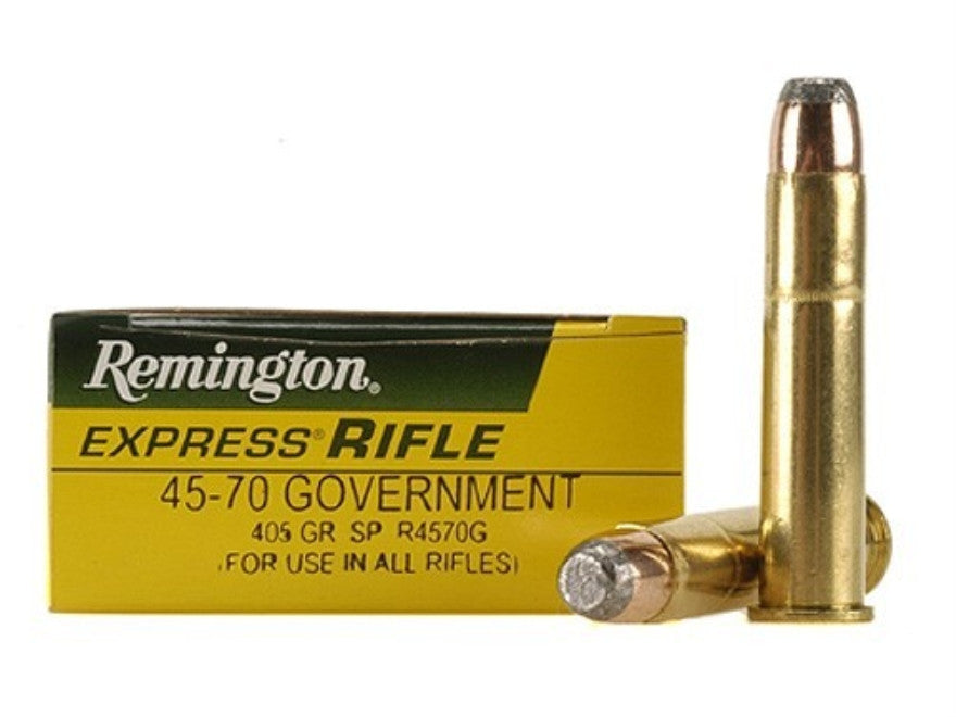 Remington Express Ammunition 45-70 Government 405 Grain Jacketed Soft Point (20pk)