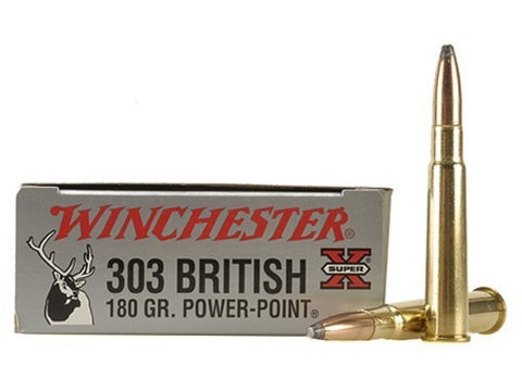 Winchester Super-X Ammunition 303 British 180 Grain Power-Point  (20pk) - REDUCED TO CLEAR