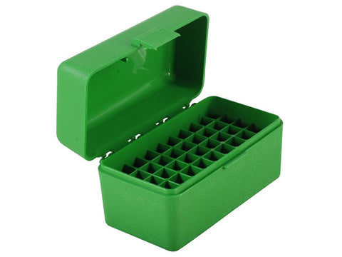 MTM Flip-Top Ammo Box 17 Remington, 204 Ruger, 223 Remington 50-Round Green