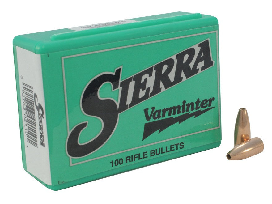 Sierra Varminter Bullets 30 Caliber (308 Diameter) 110 Grain Hollow Point (100pk)