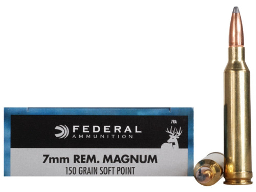 Federal Power-Shok Ammunition 7mm Remington Magnum 150 Grain Soft Point (20pk)