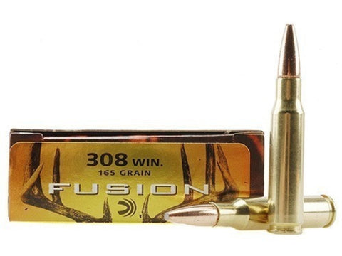Federal Fusion Ammunition 308 Winchester 165 Grain Spitzer Boat Tail (20pk)