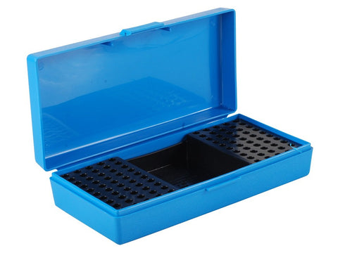 MTM Flip-Top Ammo Box 22 Long Rifle 100-Round Plastic Blue