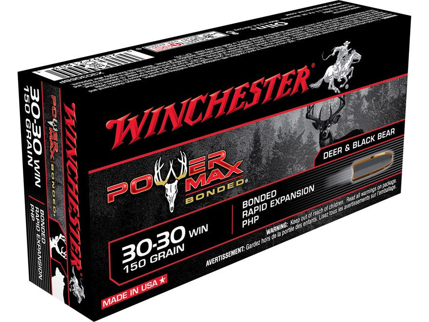 Winchester Power Max Bonded Ammunition 30-30 Winchester 150 Grain Protected Hollow Point (20pk)