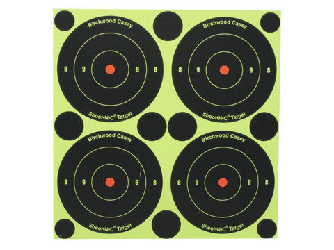 "Birchwood Casey Shoot-N-C Targets 3"" Bullseye with 120 Repair Pasters (48pk)"