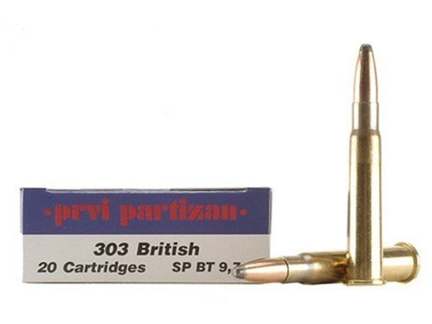 Prvi Partizan PPU Ammunition 303 British 150 Grain Soft Point Boat Tail (20pk)