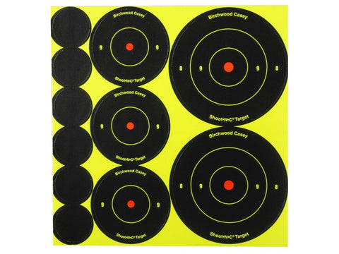 "Birchwood Casey Shoot-N-C Targets 72-1"", 36-2"" and 24-3"" Round Assortment (10pk)"