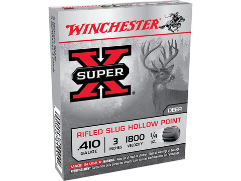 "Winchester Super-X Ammunition 410 Bore 3"" 1/4 oz Rifled Slug (5pk)"