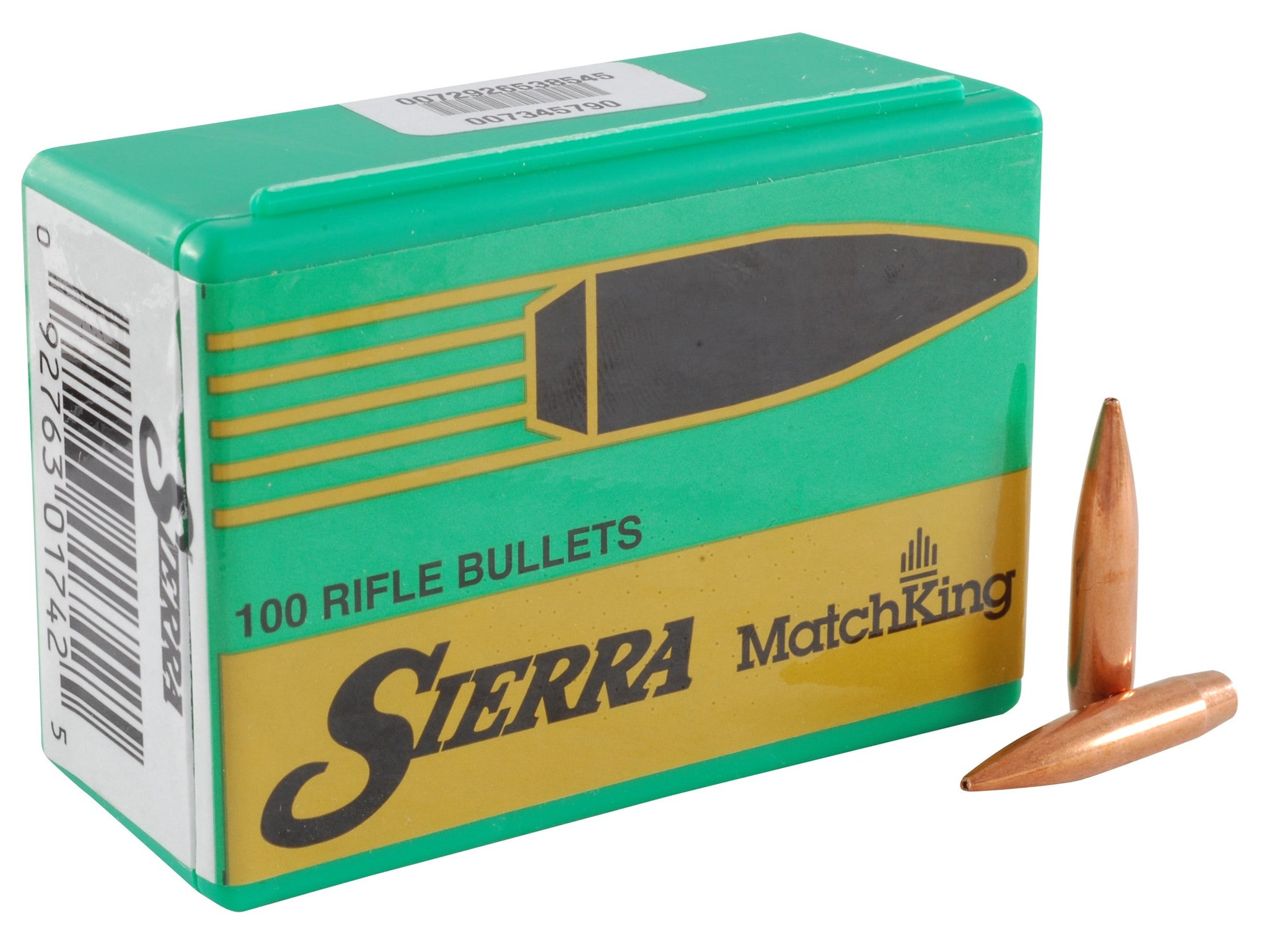 Sierra MatchKing Bullets 264 Caliber, 6.5mm (264 Diameter) 142 Grain Jacketed Hollow Point Boat Tail (100Pk)