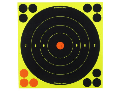 "Birchwood Casey Shoot-N-C Targets 8"" Bullseye Pack of 30 with 120 Pasters (30Pk)"