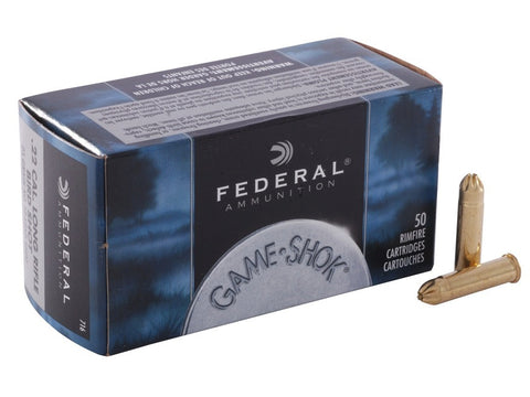 Federal Game-Shok Ammunition 22 Long Rifle (22LR) 25 Grain #12 Shot Shotshell (50pk)