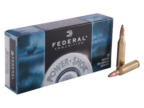 Federal Power-Shok Ammunition 243 Winchester 80 Grain Speer Hot-Cor Soft Point (20pk)
