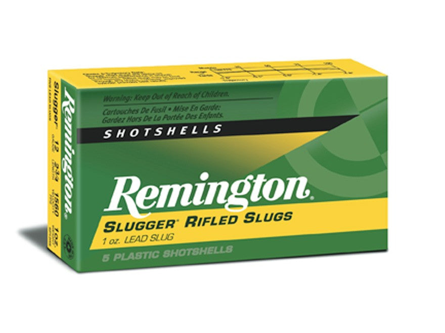"Remington Slugger Ammunition 12 Gauge 2-3/4"" 1 oz Rifled Slug (5pk)"