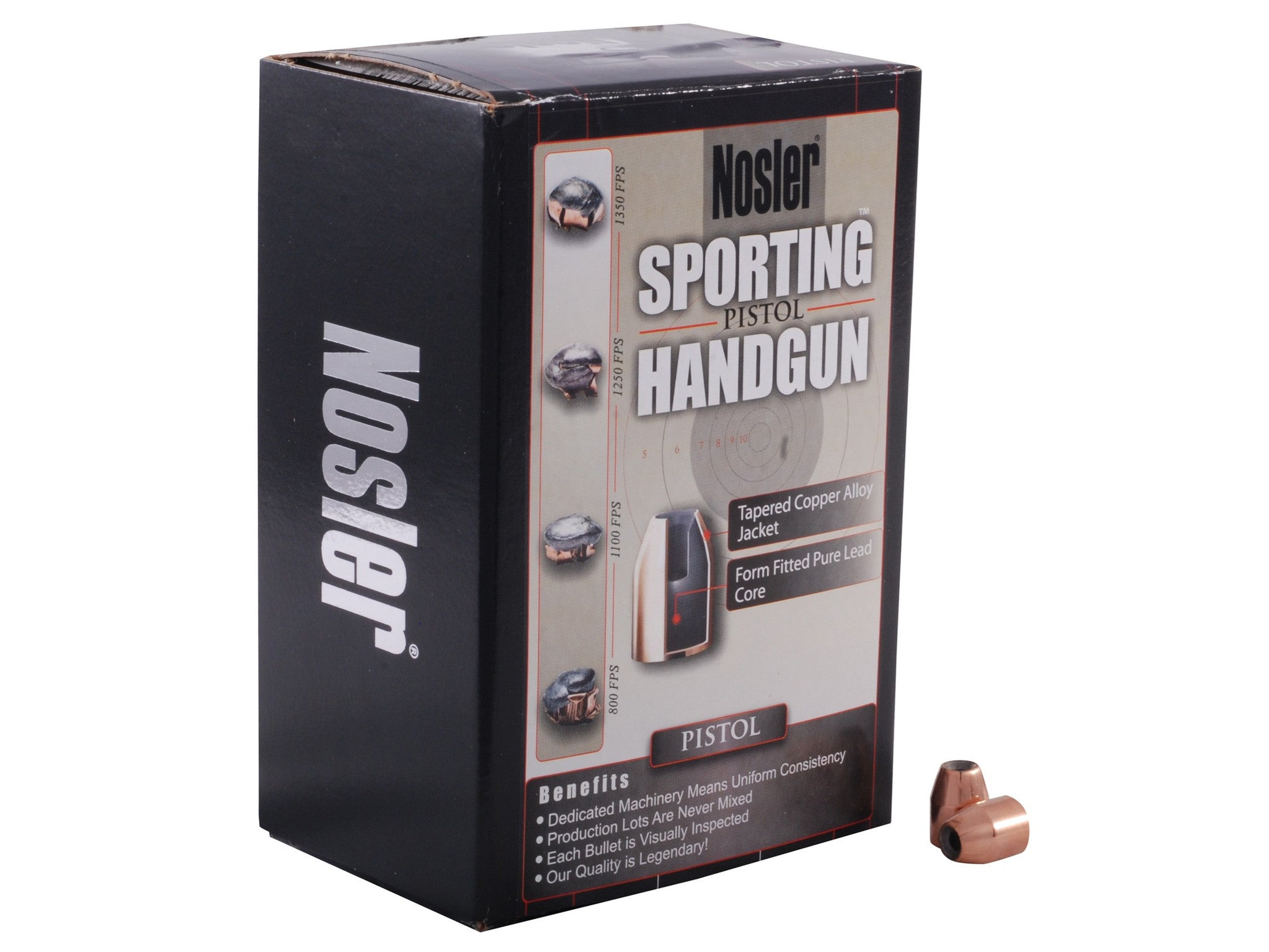 Nosler Sporting Handgun Bullets 44 Caliber (429 Diameter) 300 Grain Jacketed Hollow Point (100pk)
