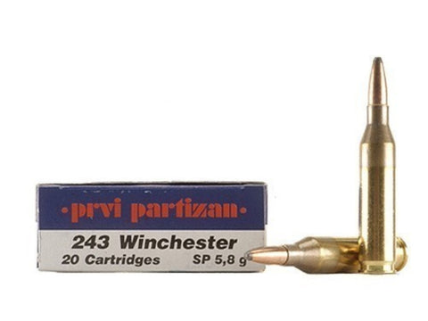 Prvi Partizan PPU Ammunition 243 Winchester 90 Grain Soft Point (20pk)