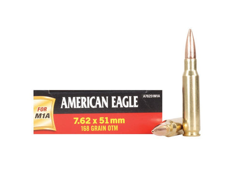 Federal American Eagle Ammunition 7.62x51mm NATO 168 Grain Open Tip Match (20pk)