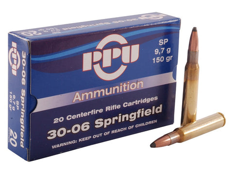 Prvi Partizan PPU Ammunition 30-06 Springfield 150 Grain Soft Point (20pk)