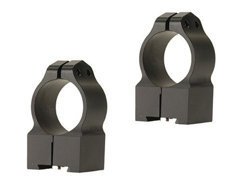 "Warne 1"" Permanent-Attachable Ring Mounts Tikka High Matte"