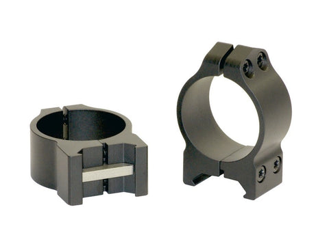 Warne 30mm Maxima Permanent-Attachable Weaver-Style Rings Low Matte