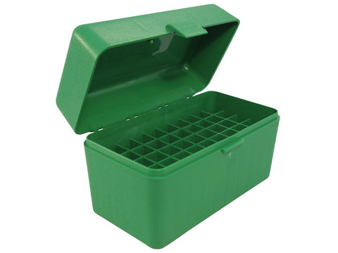 MTM Flip-Top Ammo Box 25-06 Remington, 270 Winchester, 30-06 Springfield 50-Round Green