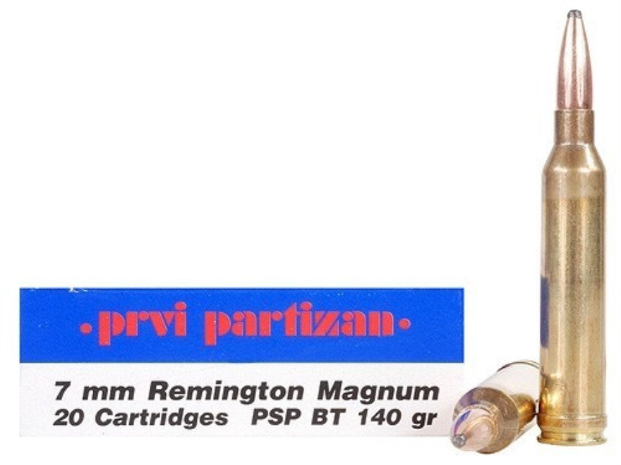 Prvi Partizan PPU Ammunition 7mm Remington Magnum 145 Grain Soft Point  (20pk)